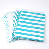 Candy, Favor & Treat Bags For All Parties 48ct Aqua, White