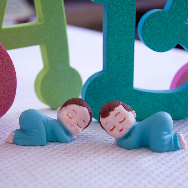 Baby Sleeping Baby Shower Cake Decor