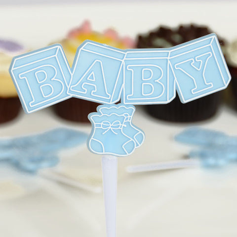 Baby Shower Picks w/Blocks & Booties 24ct