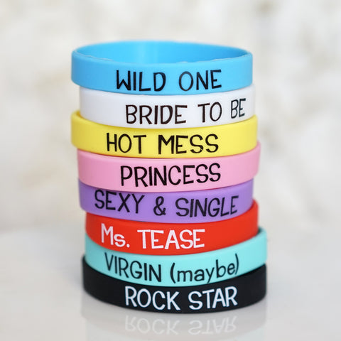Bachelorette Party Fun & Games Bracelets for Bridal Party - Assorted