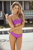 Lavender Sea Breeze Bandeau Bikini - Cabana Chic Swimwear