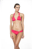 Red Triangle Halter Bikini - Cabana Chic Swimwear