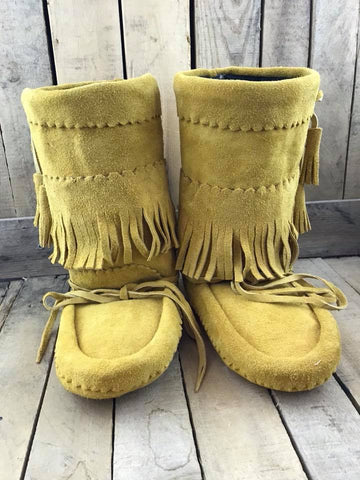 Factory Hide Fringed 3/4 Length Lined Mukluks