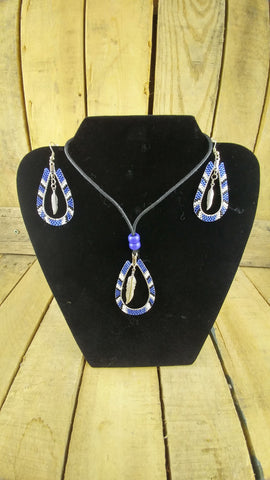 Beaded Earring and Necklace Set