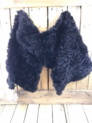 Dene Fur Classic Scarf Beaver Medium Black