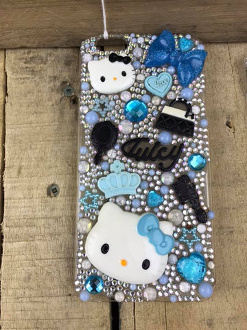 Cellphone Case Blue with Hello Kitty