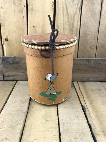 Birch Bark Basket Eagle and Teepee