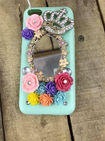 Cellphone Case Green with Mirror 5""