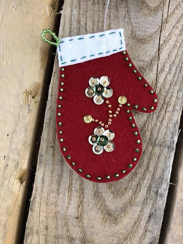Beaded Felt Stocking Ornament