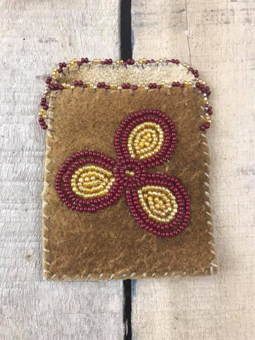 Cardholder Confetti and Red/Gold Flower 3 Petal