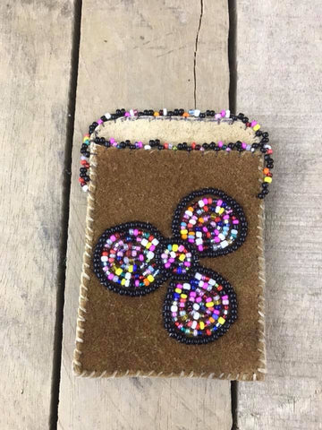 Cardholder Confetti Colourful Beaded Flower 3 Petal
