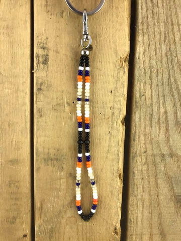 Oilers short Keychain Beaded