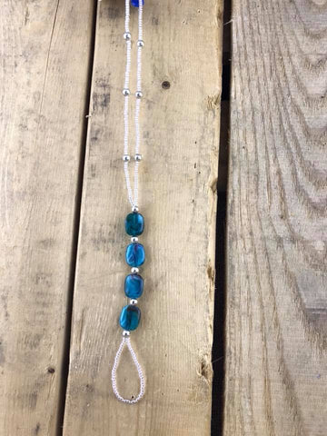 Beaded Toe/Ankle Bracelet Turquoise