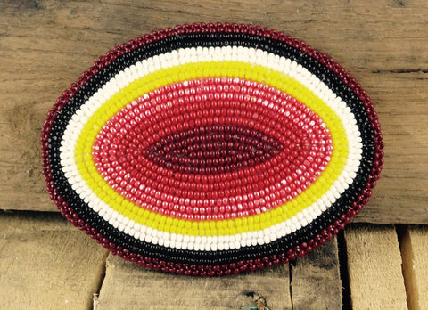 Multi-coloured Beaded Belt Buckle