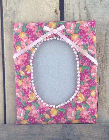 Cloth Flower Design Picture Frame