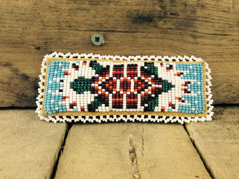 Turtle Beaded on Hair Barrette