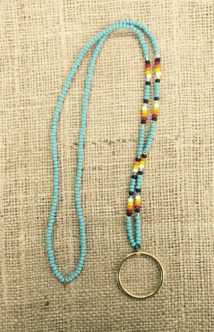 Turquoise Beaded Eyeglass Holder