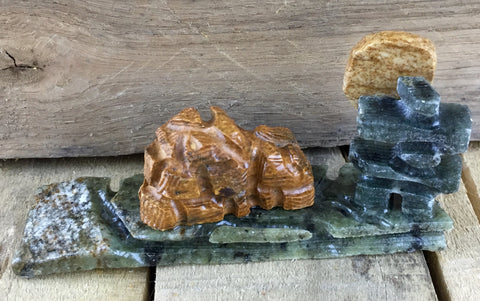 Inukshuk and Igloo Soapstone Carving