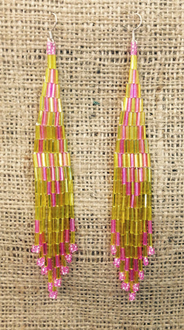 Yellow / Pink Earrings