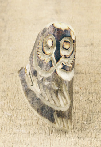 Owl Carving in Moose Antler