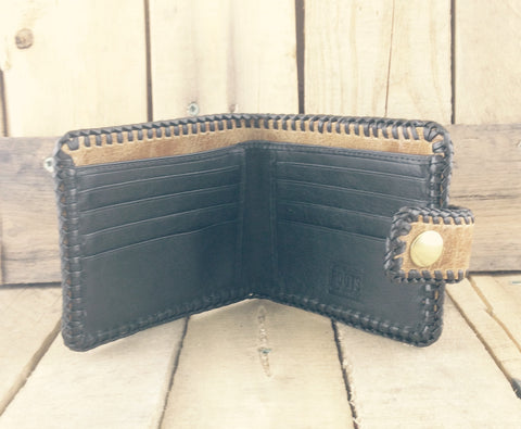 Brown Leather Wallet Hand-Crafted