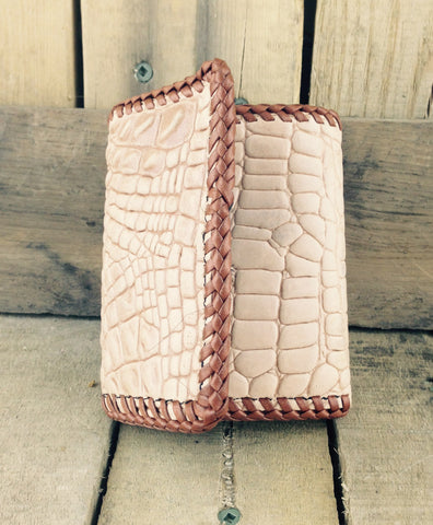 Tan Leather Wallet Hand-Crafted
