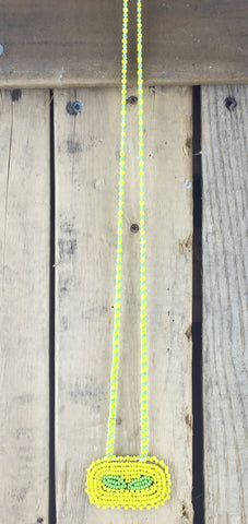 Yellow and Green Beaded Necklace