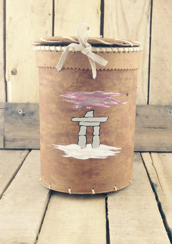 Birch Bark Basket Inukshuk Print