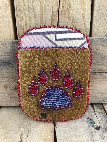 Traditional Bear-Paw Moose-hide Card Holder
