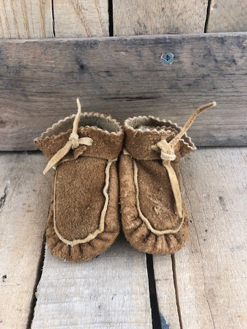Infant moose hide moccasin