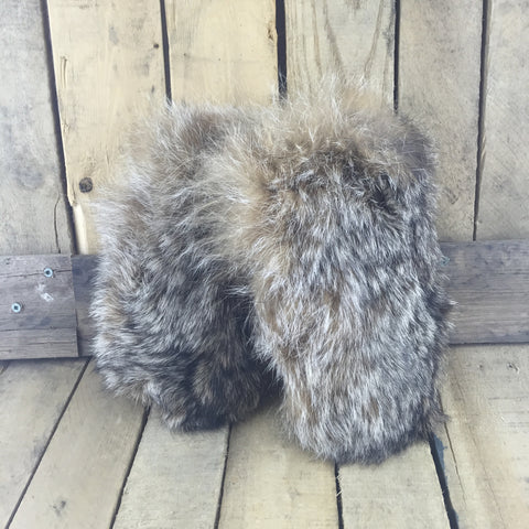 Moosehide Mittens with Fox Fur