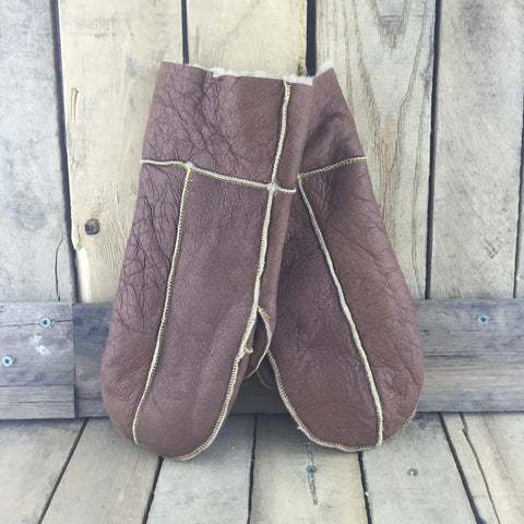 Brown Sheepskin Mitts