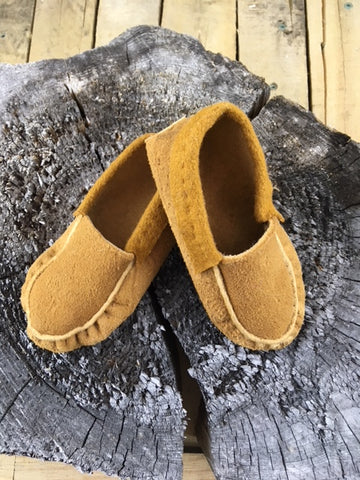 Children's Plain Moosehide Moccasins