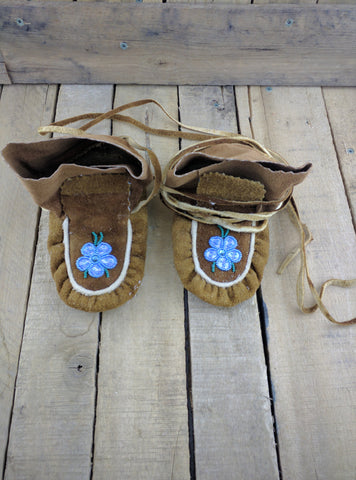 Youth  Moosehide Slippers