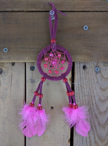 Small Burgandy Color Dream Catcher