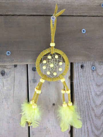 Small Mustard Color Dream Catcher