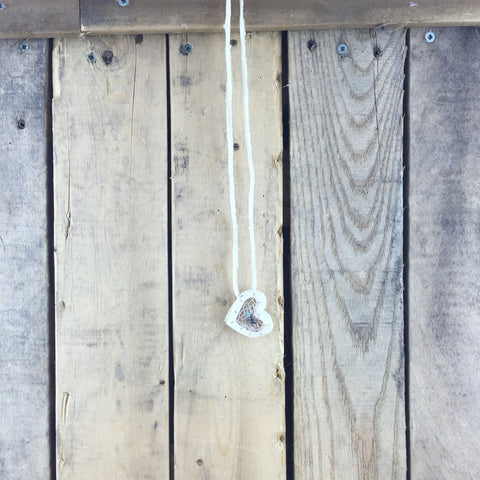 Double Heart Bone Necklace