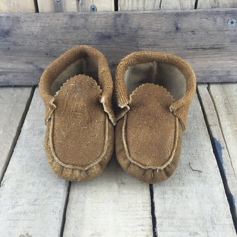 Plain Moose Hide Slippers