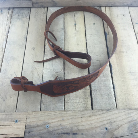 Brown Leather Rifle Strap