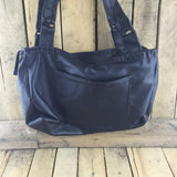 Black Leather Purse with Black Stroud Side Pocket