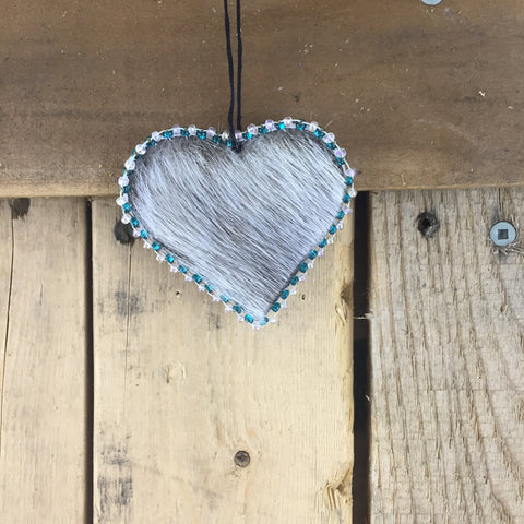 Small Seal Skin Heart Shaped Ornament