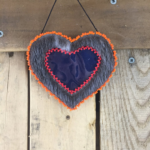Small Seal Skin Heart Picture Frame