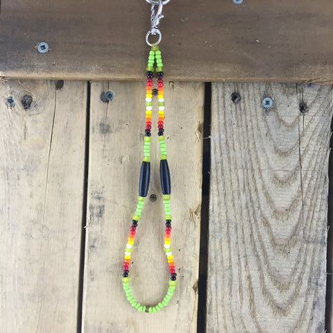 Beaded Green Lanyard