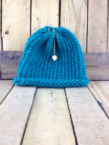 Blue Knit Toque