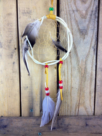 Willow Dreamcatcher with Beads and Feathers