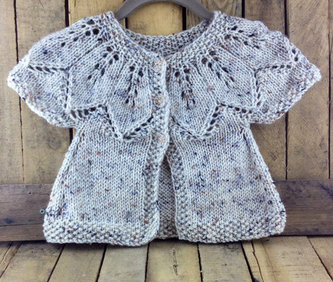 Brown Hand Knitted Baby Sweater