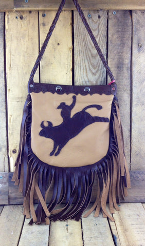 Brown Cow Leather Purse