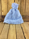 Blue Hand-Knitted Toque and Scarf Set