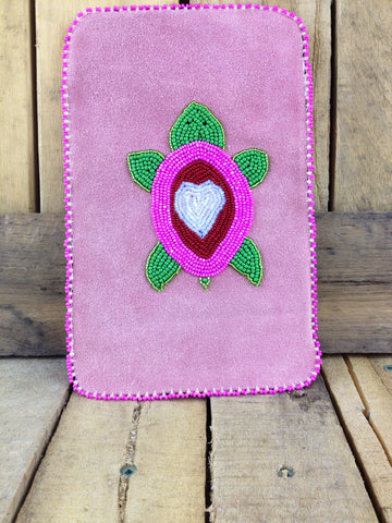 Pink Beaded Turtle on Ipad Mini Case
