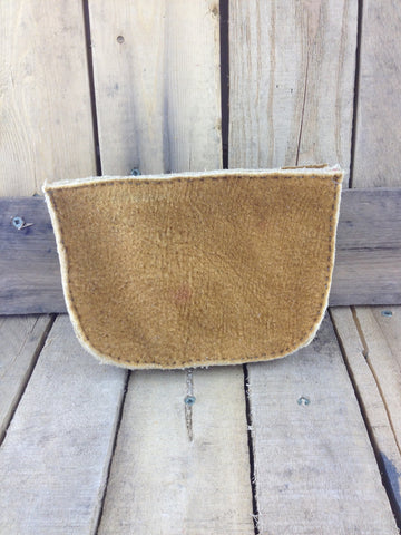 Hand Tanned Moose Hide Bullet and Shell Case Holder with Belt Loop